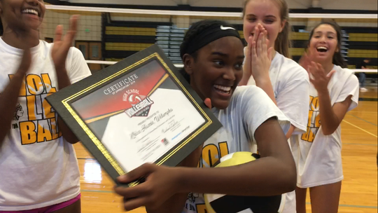 Wetumpka freshman Khloe Harris won the online vote for player of the week for the first week of the high school volleyball season.