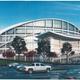 Artistic rendering of the future Garrett Coliseum after renovations
