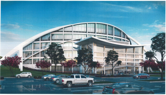 Artistic rendering of the future Garrett Coliseum after renovations