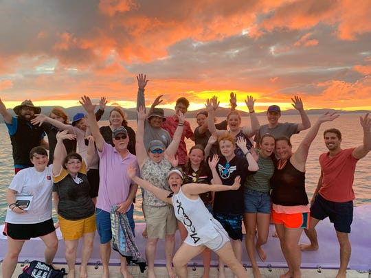 While in Australia, the group enjoyed many memorable sunsets.