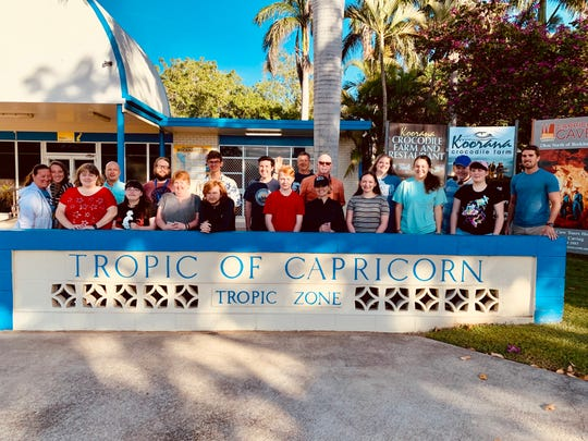 The group visited the Tropic of Capricorn during their visit.