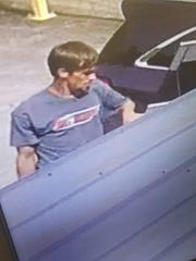 This suspect is wanted for the Aug. 17 burglary on Bill Jones Industrial Boulevard.