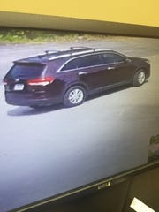 Springfield Police say this was the car the suspect was driving when he burglarized a local business on Aug. 17.