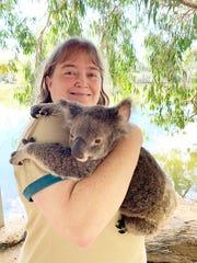 During one stop, intrepid group members got to hold wildlife native to Australia, like koala bears.