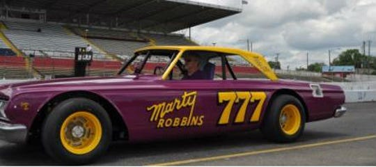 Marty Robbins' restored No. 777 777 Plymouth Belvedere will be on display during an classic race car show before Saturday's races at Fairgrounds Speedway Nashville.
