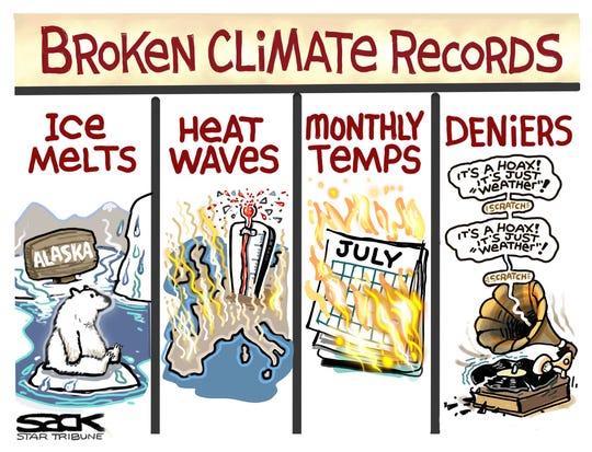 Broken climate records.