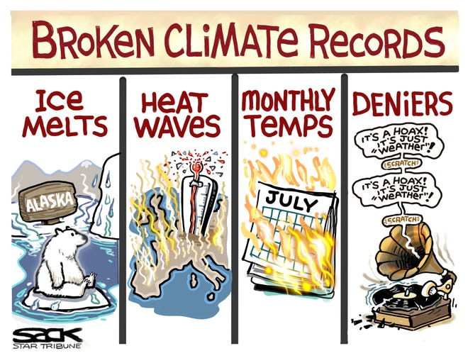 Broken climate records.