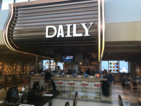 DAILY is a concept in Newark Airport that changes its menu every day based on what's seasonal.