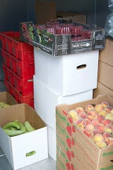 Locally grown bell peppers and peaches delivered by the Southwest New Mexico Food Hub are destined for the cafeteria trays of students in Lordsburg. The newly awarded USDA Farm to School grant will expand sales of locally grown produce to the 8,200 public school students in seven public school districts in southwest New Mexico.