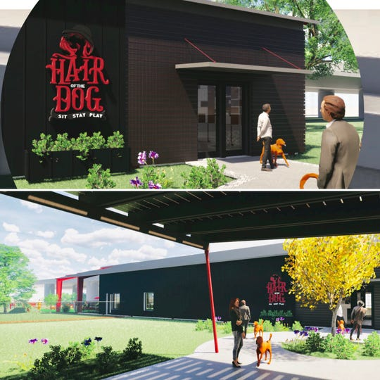 Drawings show the proposed Hair of the Dog hybrid indoor/outdoor park, which Pensacola women Michelle Press and Stephanie Hudgens hope to pinpoint a location for soon.