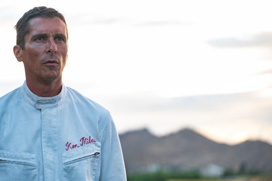 "Christian Bale plays real-life racer Ken Miles in ""Ford v Ferrari."""