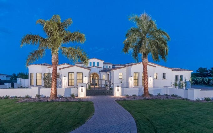 Adam Jones, Arizona Diamondback outfielder, paid $3.99 million for this mansion in Paradise Valley.