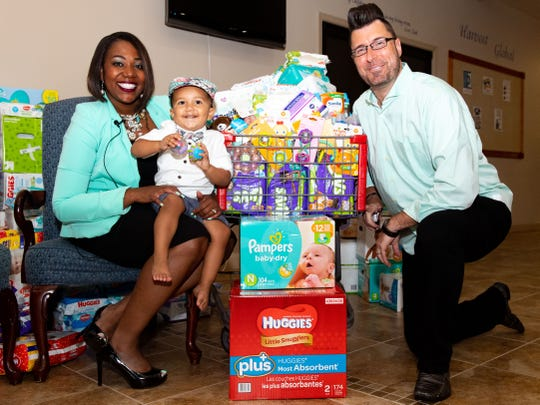 """Inspired by their two-year-old son Lucas, Jonathan and Cindy Strawbridge are hosting a community baby shower called """"It Takes A Village"""", August 24, 2019."""