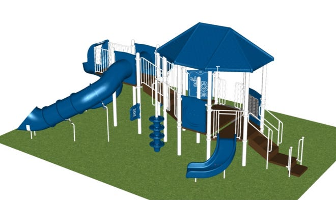 A rendering of the new play structure.