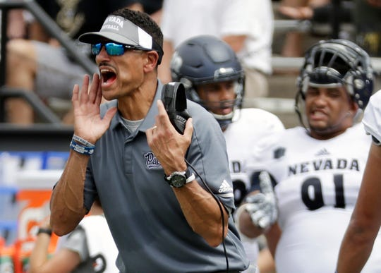 Nevada coach Jay Norvell is entering his third season with the Wolf Pack.