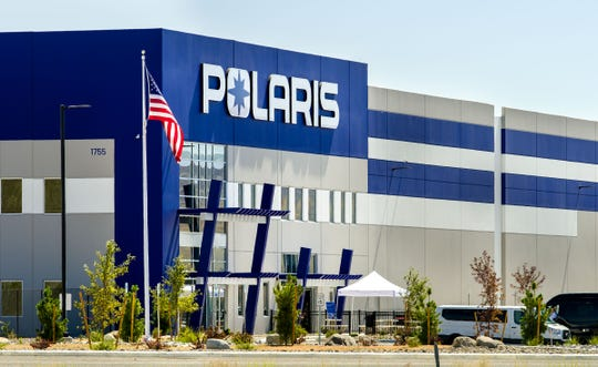 Polaris celebrated the grand opening of its 475,000-square-foot distribution facility in Fernley.