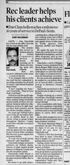 Feature in the Nov 15, 2000 Democrat And Chronicle on Dan Charcholla of DePaul Community Services.