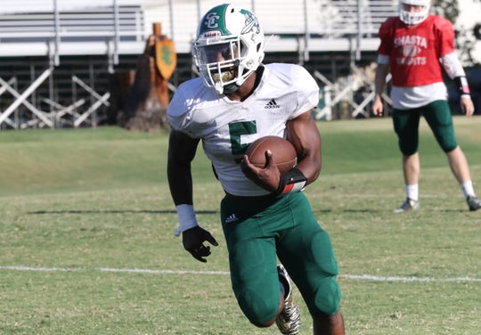 Returner Matt McCree is expected to lead the Shasta College Knights when they open their season Saturday, Sept. 7, 2019, at home against Chabot.
