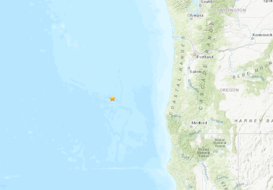 An earthquake was detected off the Oregon Coast Thursday morning.