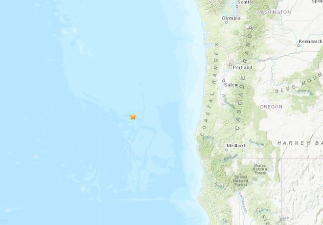 An earthquake was detected off the Oregon Coast Thursday morning.