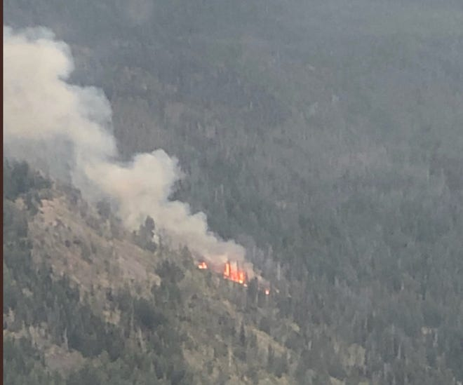 The Tumalo Creek Fire burning outside Bend on Wednesday.