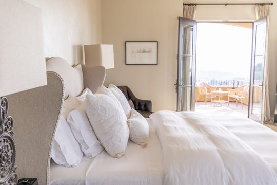 A guest room at the Black Walnut Inn & Vineyard in Dundee. The bed and breakfast was recently named among the '10 Best' wine country hotels in the nation by USA Today readers.