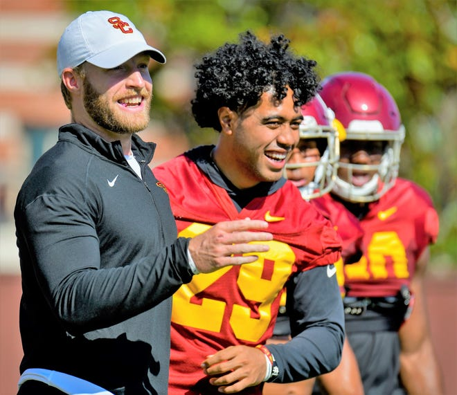 San Angeloan John David Baker is in his first season as an assistant coach for the USC Trojans. He's a graduate of San Angelo Lake View High School and Abilene Christian University.