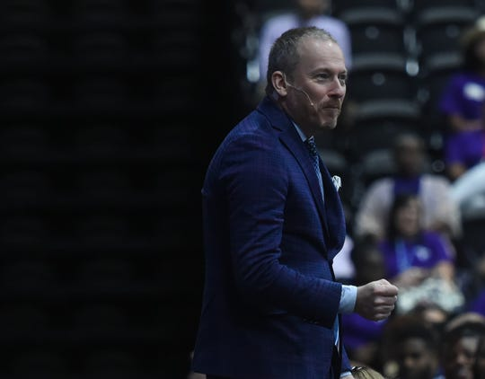"Ron Clark, who is known as ""America's Teacher"" and has made appearances on Oprah and Survivor, speaks at the annual Wicomico County Public School's staff kickoff event on Thursday, Aug. 29, 2019."