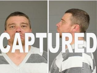 Ronald Lee Webb, 38, was captured and booked into jail on Wednesday, Aug. 29, 2019.