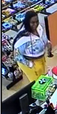 The Augusta County Sheriff's Office is asking for the public's help identifying a suspect who they believe was involved in fraudulent transactions. She is believed to drive a maroon GMC SUV.