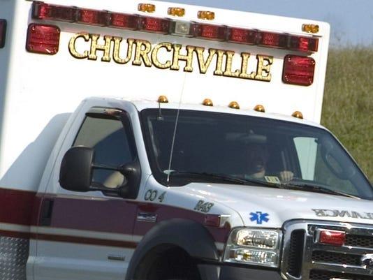 A Churchville ambulance