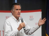 Sen. Mitt Romney talks climate change, spending, healthcare at southern Utah town hall