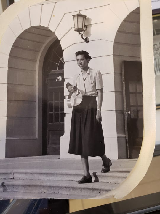 Althea Gibson as a sophomore at FAMU in 1951.