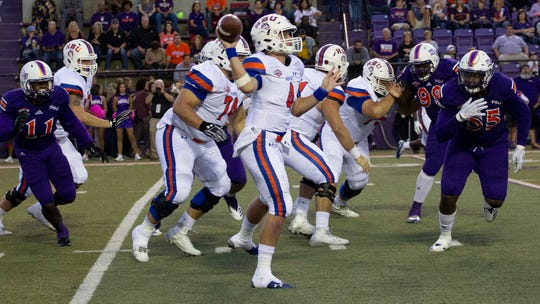 Junior quarterback Bailey Zappe leads Houston Baptist into Saturday's game against UTEP