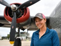Demi Bamber, flight coordinator for the Wings of Freedom tour, talks about keeping the B-24 Liberator flying in honor of World War II veterans.