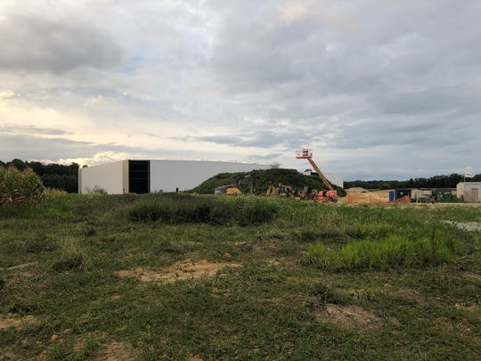 A Dot Foods warehouse is under construction near Wrangle Hill and Red Lion Roads in Bear. The facility, when completed, will be close to 200,000 square feet.