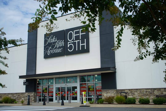 Saks Fifth Avenue Off 5th located in the new Christiana Fashion Center is closing in October.
