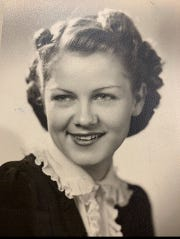 Mary Matz, shown in this 1936 photo, recently celebrated her 98th birthday with a party thrown by family and friends.