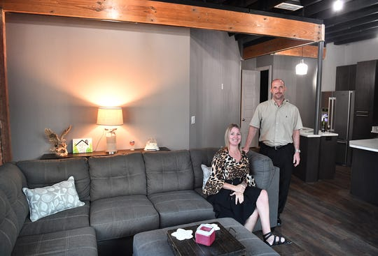 Cynthia Doten and Dent Keltner were the first to move into the new 9th Street Lofts apartments.