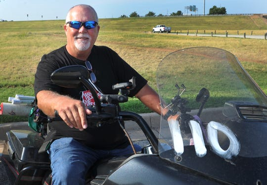 Rex Covington made a pitstop in Wichita Falls while raising money traveling the country to help find a cure for diabetes.