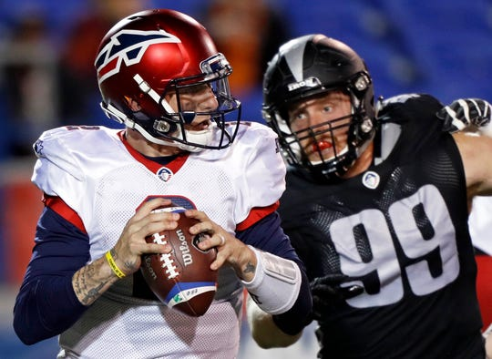 Johnny Manziel appeared in two games for the Memphis Express before the AAF suspended operations.