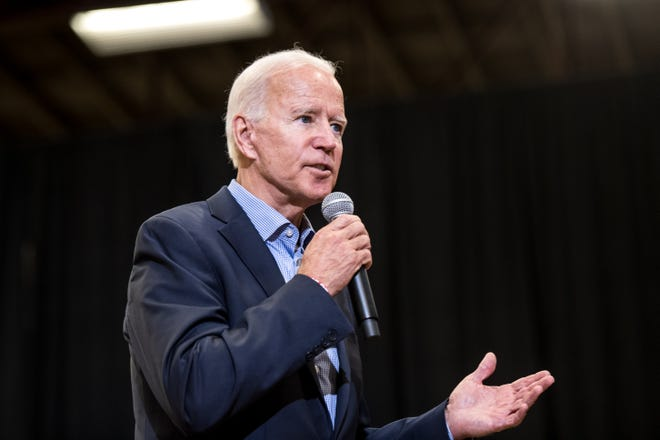 Then-Democratic presidential candidate and former Vice President Joe Biden addressed a crowd at a town hall event at Clinton College on August 29, 2019, in Rock Hill, South Carolina.