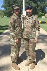 Maj. Gen. Maria Barrett and her sister, Brig. Gen. Paula Lodi pose for a family photo after, then Col. Lodi's outgoing Change of Command for the 44th Medical Brigade, Fort Bragg, N.C. in July 2018. (Photo: None, army.mil)