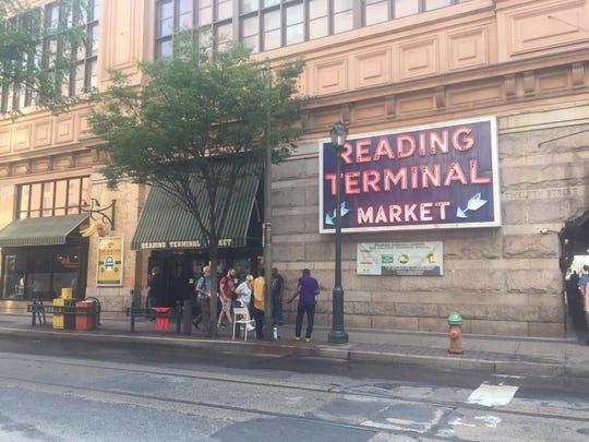 Reading Terminal Market entrance.