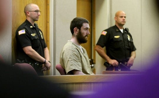 Preston Taylor is Shown in State Superior Court in Freehold Friday, August 30, 2019, where Judge Richard English ruled that his 18 year prison term wild stand for his role in the murder of Sarah Stern.