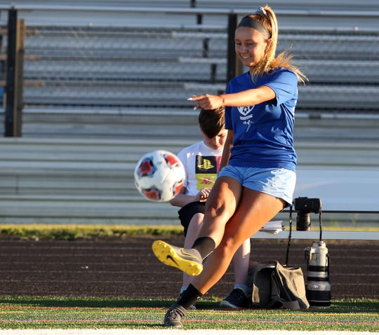 The Toms River North girls soccer team practices in Toms River, Thursday, Aug. 29.
