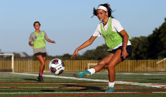 Toms River North Girls Soccer Preview Photo Shoot. Toms River, New Jersey. Thursday, August 29, 2019. David Gard /Correspondent