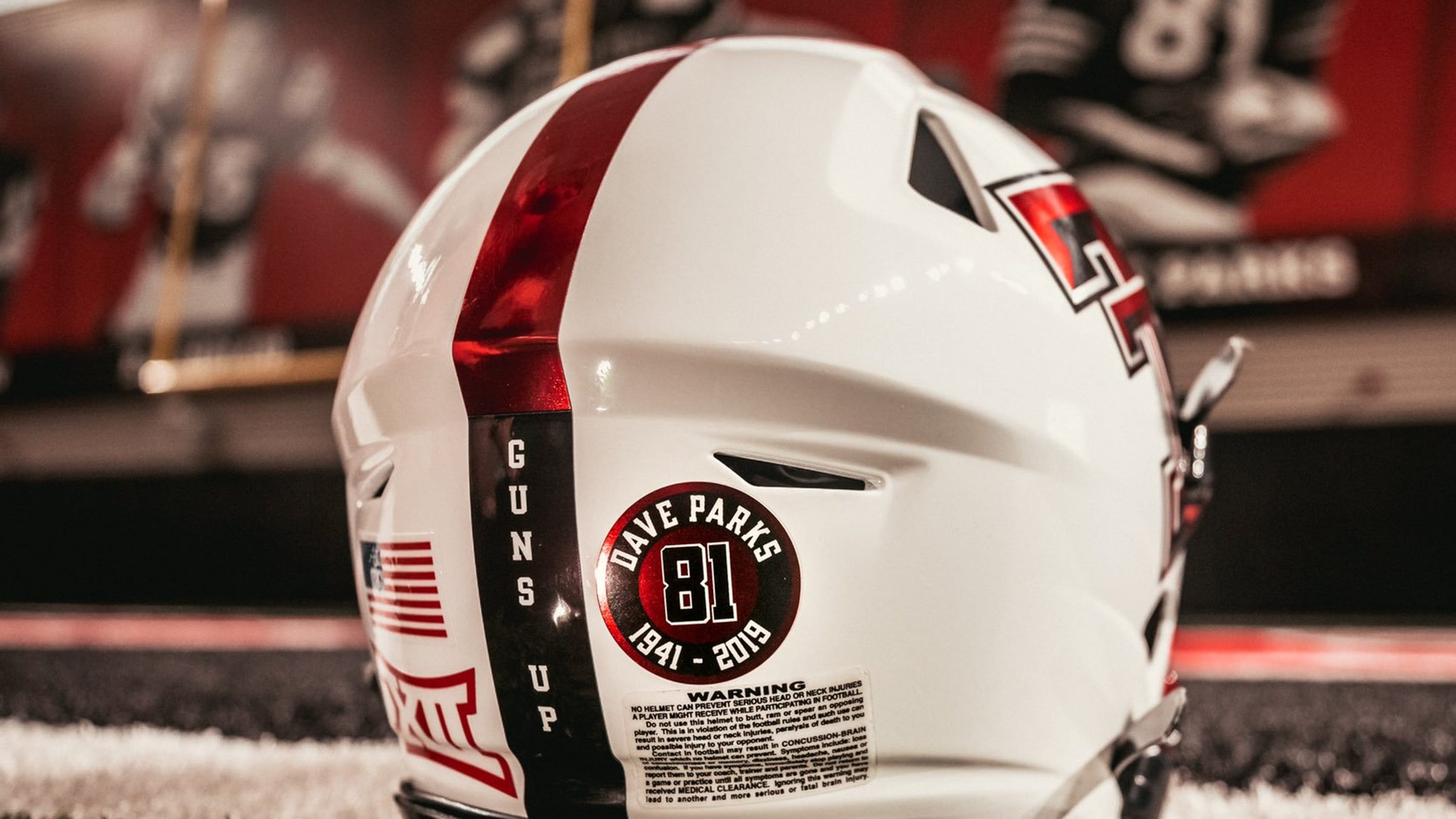 Texas Tech football to honor Parks with helmet sticker all