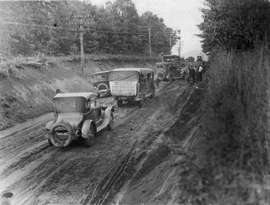 With the building of Hendersonville Road, pictured here in 1927, sightings of the headless horseman ceased.
