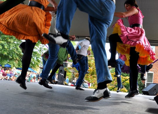 Clogging is one aspect of the Lunsford Festival honoring Southhern Appalachian heritage.